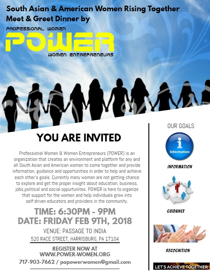 South Asian & American Women Rising Together Meet & Greet