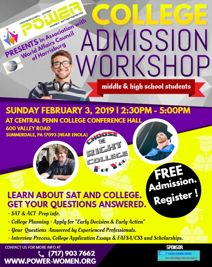 POWER College Admission Workshop